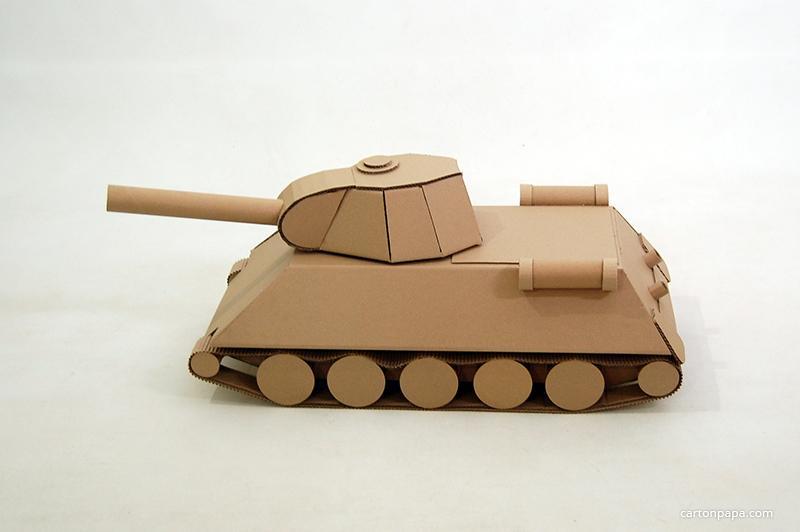 Как сделать своими руками танк из картона 28