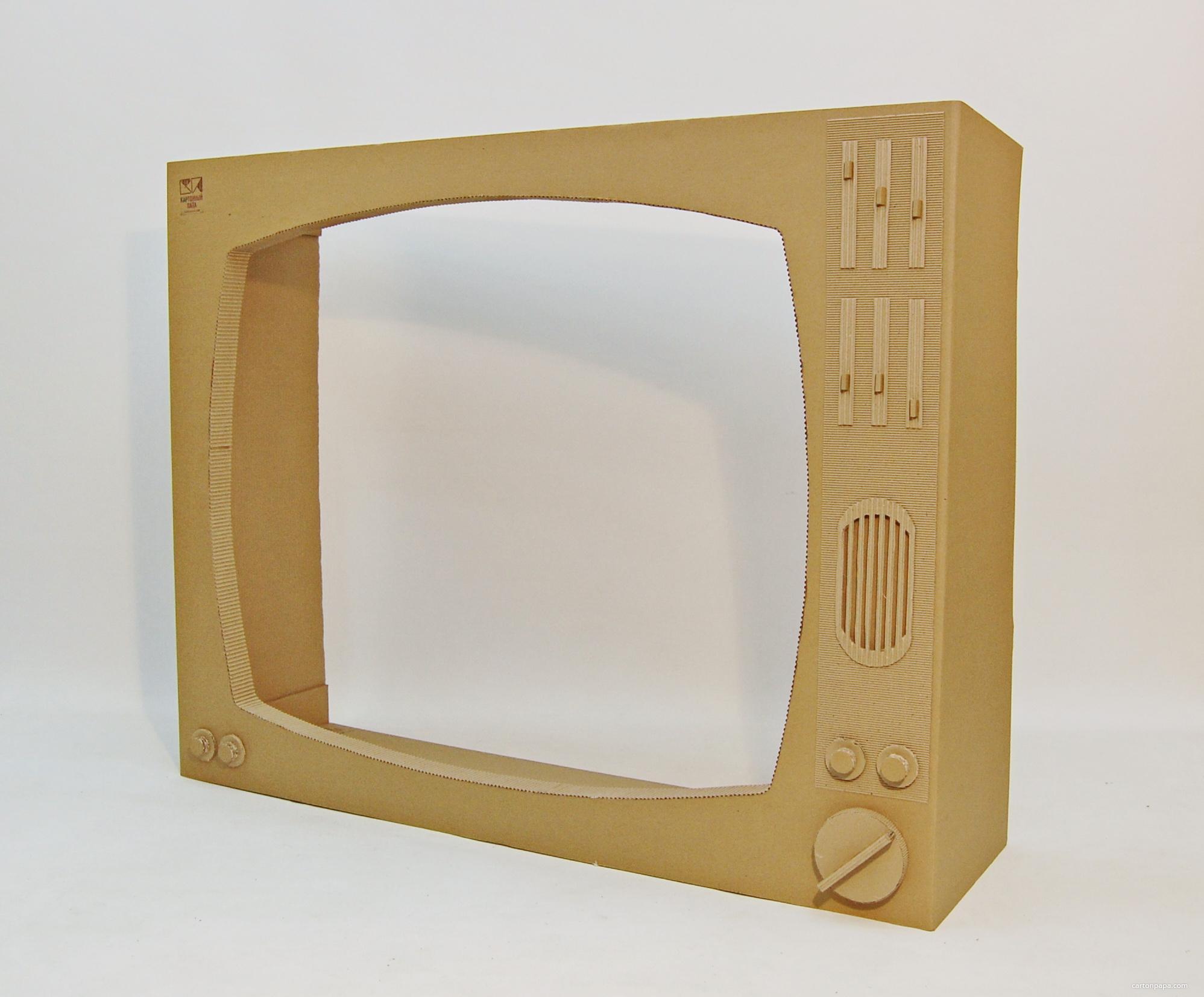 Как сделать своими руками телевизор из коробки своими руками 17