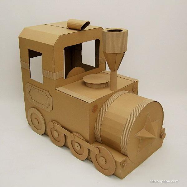 Как сделать паровоз макет